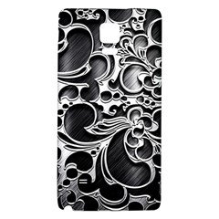 Floral High Contrast Pattern Galaxy Note 4 Back Case