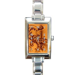 Floral Vintage  Rectangle Italian Charm Watch