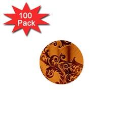 Floral Vintage  1  Mini Buttons (100 pack)