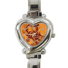 Floral Vintage  Heart Italian Charm Watch