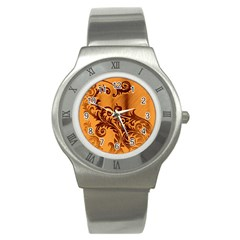 Floral Vintage  Stainless Steel Watch