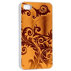 Floral Vintage  Apple iPhone 4/4s Seamless Case (White)