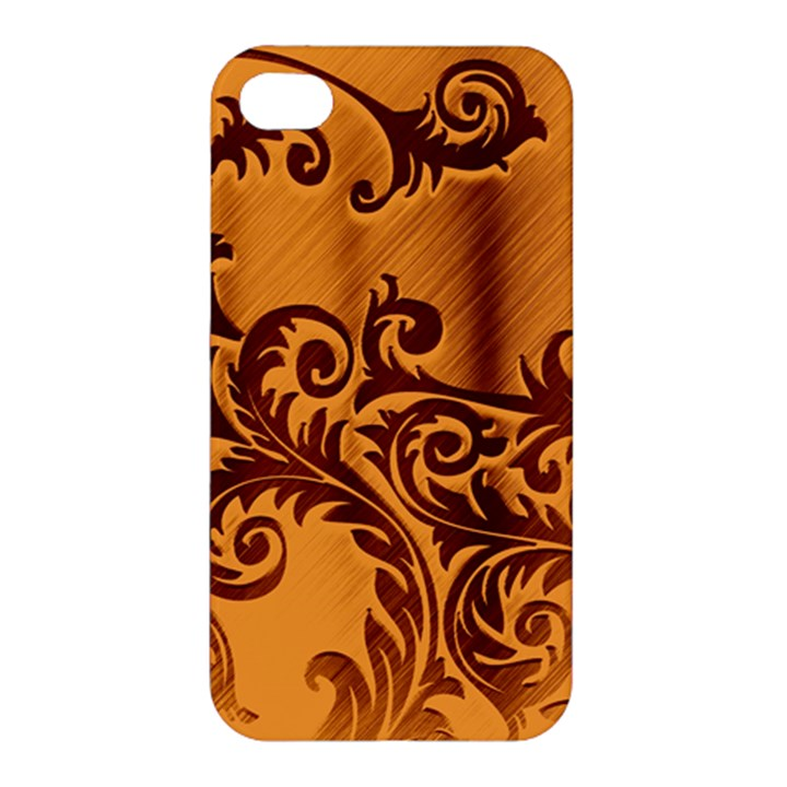 Floral Vintage  Apple iPhone 4/4S Premium Hardshell Case