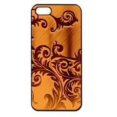 Floral Vintage  Apple iPhone 5 Seamless Case (Black)