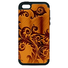 Floral Vintage  Apple iPhone 5 Hardshell Case (PC+Silicone)