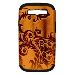 Floral Vintage  Samsung Galaxy S Iii Hardshell Case (pc+silicone)