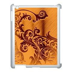 Floral Vintage  Apple iPad 3/4 Case (White)