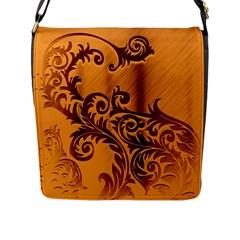 Floral Vintage  Flap Messenger Bag (L)