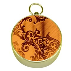 Floral Vintage  Gold Compasses