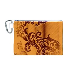 Floral Vintage  Canvas Cosmetic Bag (M)