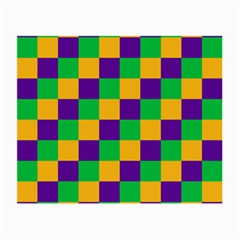 Mardi Gras Checkers Small Glasses Cloth (2-Side)