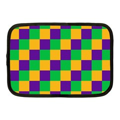 Mardi Gras Checkers Netbook Case (Medium)