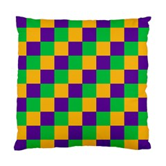 Mardi Gras Checkers Standard Cushion Case (One Side)