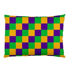 Mardi Gras Checkers Pillow Case
