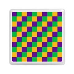 Mardi Gras Checkers Memory Card Reader (Square)
