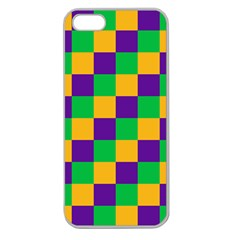 Mardi Gras Checkers Apple Seamless iPhone 5 Case (Clear)