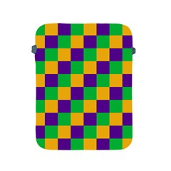Mardi Gras Checkers Apple iPad 2/3/4 Protective Soft Cases