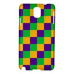 Mardi Gras Checkers Samsung Galaxy Note 3 N9005 Hardshell Case