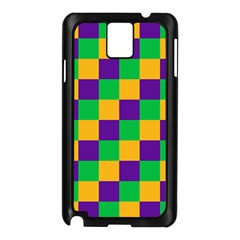 Mardi Gras Checkers Samsung Galaxy Note 3 N9005 Case (Black)