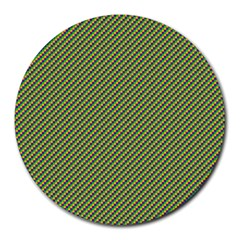Mardi Gras Checker Boards Round Mousepads