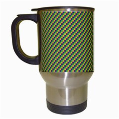 Mardi Gras Checker Boards Travel Mugs (White)