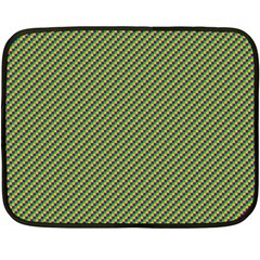 Mardi Gras Checker Boards Double Sided Fleece Blanket (Mini)