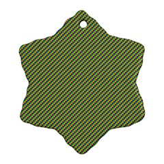 Mardi Gras Checker Boards Ornament (Snowflake)