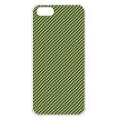 Mardi Gras Checker Boards Apple iPhone 5 Seamless Case (White)