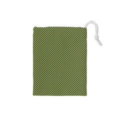 Mardi Gras Checker Boards Drawstring Pouches (Small)