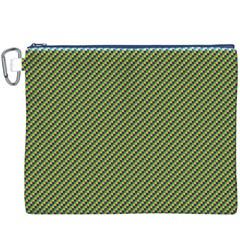 Mardi Gras Checker Boards Canvas Cosmetic Bag (XXXL)