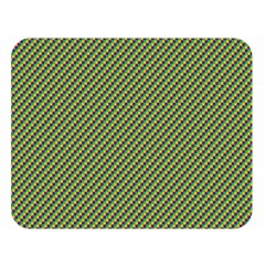Mardi Gras Checker Boards Double Sided Flano Blanket (Large)
