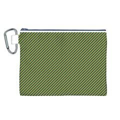 Mardi Gras Checker Boards Canvas Cosmetic Bag (L)
