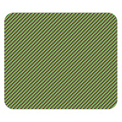 Mardi Gras Checker Boards Double Sided Flano Blanket (Small)