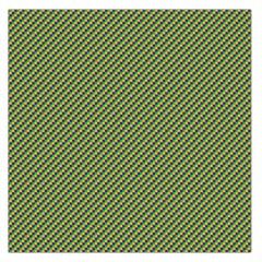 Mardi Gras Checker Boards Large Satin Scarf (Square)