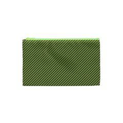 Mardi Gras Checker Boards Cosmetic Bag (XS)