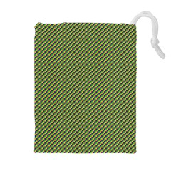Mardi Gras Checker Boards Drawstring Pouches (Extra Large)