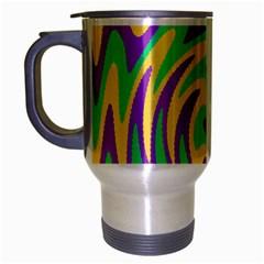Mardi Gars Travel Mug (Silver Gray)