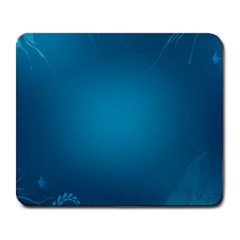 Blue Sea World Animals Fish Flower Floral Swim Waves Large Mousepads