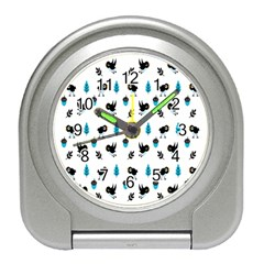 Bird Beans Leaf Black Blue Travel Alarm Clocks