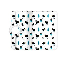 Bird Beans Leaf Black Blue Kindle Fire HDX 8.9  Flip 360 Case