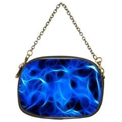 Blue Flame Light Black Chain Purses (Two Sides)