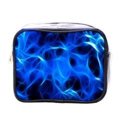 Blue Flame Light Black Mini Toiletries Bags