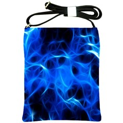 Blue Flame Light Black Shoulder Sling Bags