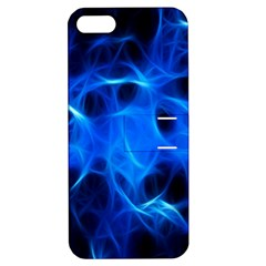 Blue Flame Light Black Apple iPhone 5 Hardshell Case with Stand