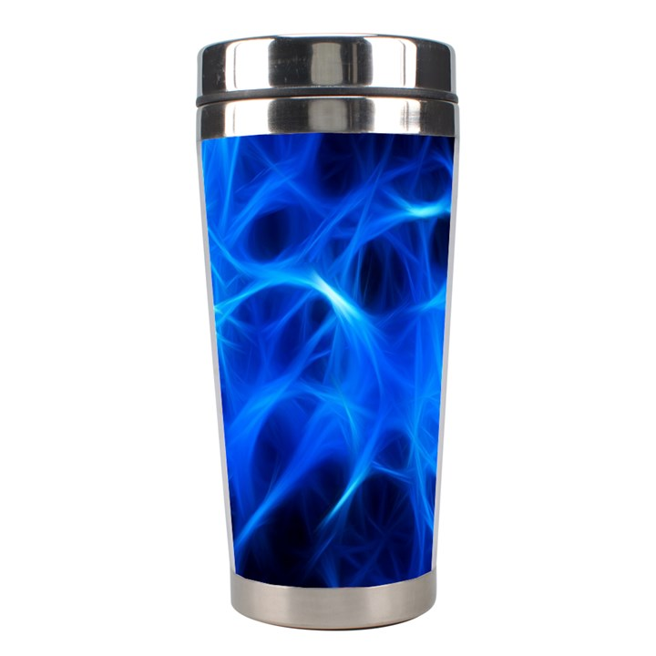 Blue Flame Light Black Stainless Steel Travel Tumblers