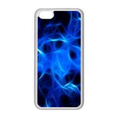 Blue Flame Light Black Apple iPhone 5C Seamless Case (White)