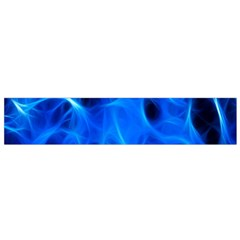 Blue Flame Light Black Flano Scarf (Small)