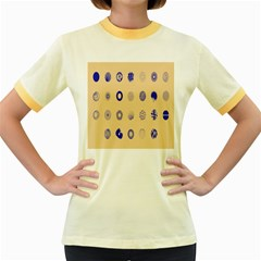 Art Prize Eight Sign Women s Fitted Ringer T-Shirts