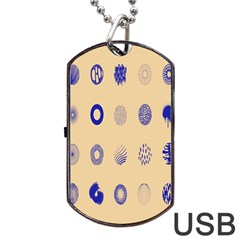 Art Prize Eight Sign Dog Tag USB Flash (One Side)