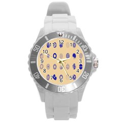 Art Prize Eight Sign Round Plastic Sport Watch (L)